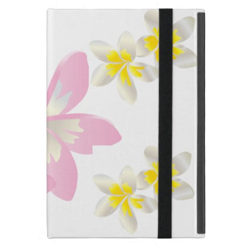 Caja de las flores del Plumeria de Hawaii iPad Mini Coberturas