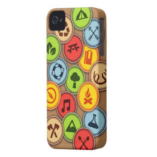 Caja de las insignias al mérito iPhone 4 Case-Mate protector