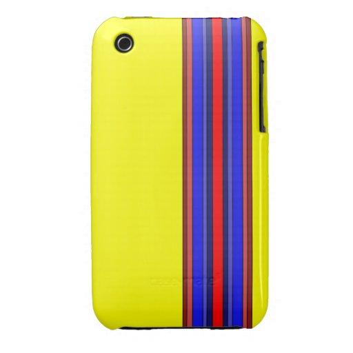 Caja de las rayas verticales de los rojos/de los a iPhone 3 Case-Mate funda