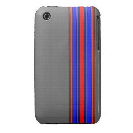 Caja de las rayas verticales de los rojos/de los a iPhone 3 protectores