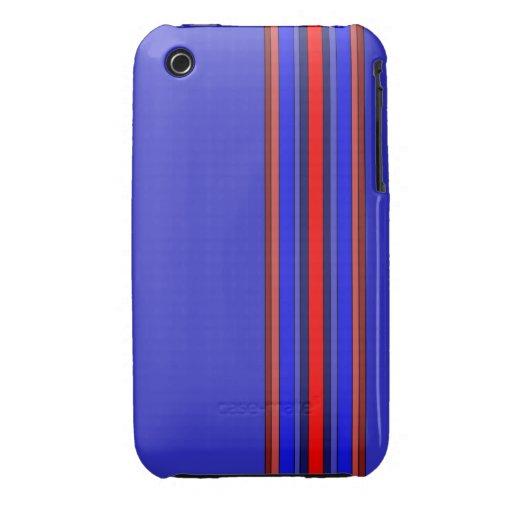 Caja de las rayas verticales de los rojos/de los a Case-Mate iPhone 3 coberturas
