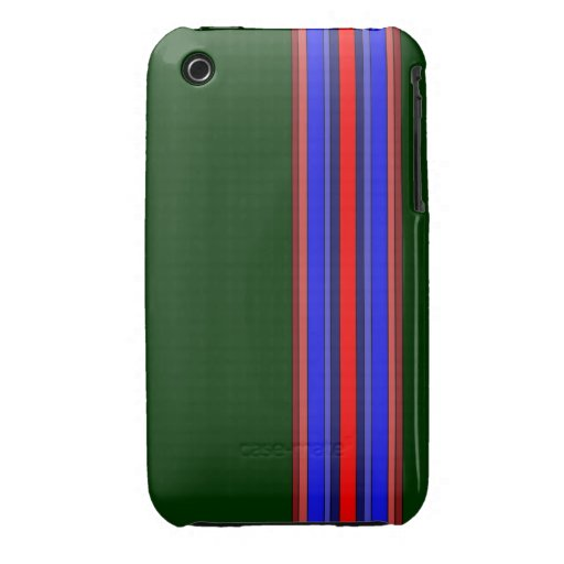 Caja de las rayas verticales de los rojos/de los a Case-Mate iPhone 3 carcasas