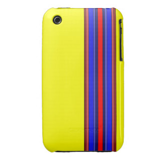 Caja de las rayas verticales de los rojos/de los Case-Mate iPhone 3 carcasa