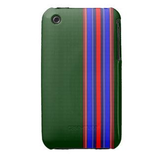 Caja de las rayas verticales de los rojos/de los Case-Mate iPhone 3 cobertura