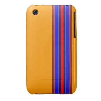 Caja de las rayas verticales de los rojos/de los iPhone 3 cárcasa