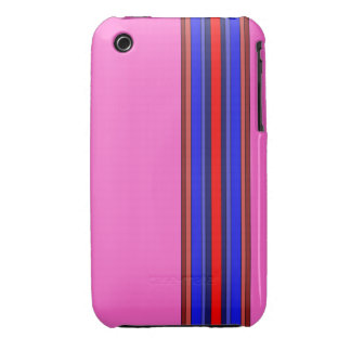 Caja de las rayas verticales de los rojos/de los iPhone 3 Case-Mate funda