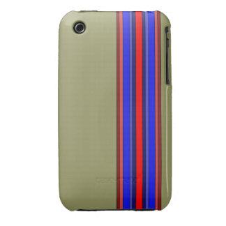 Caja de las rayas verticales de los rojos/de los iPhone 3 Case-Mate fundas