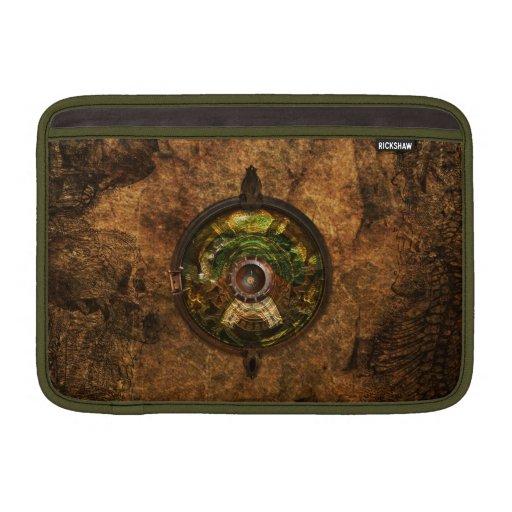 Caja de libro del mac del artilugio de Steampunk Funda Para Macbook Air