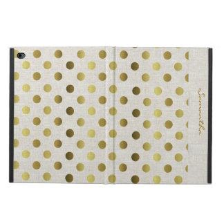 Caja de lino del aire 2 del iPad de la mirada de