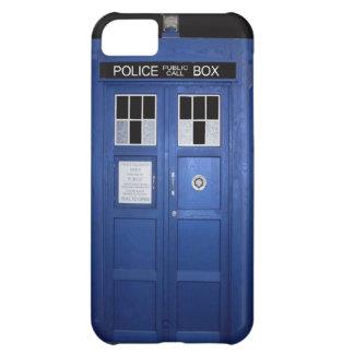 Caja de llamada azul de policía (foto) funda para iPhone 5C