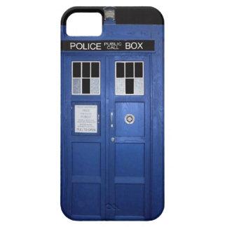 Caja de llamada azul de policía (foto) iPhone 5 fundas