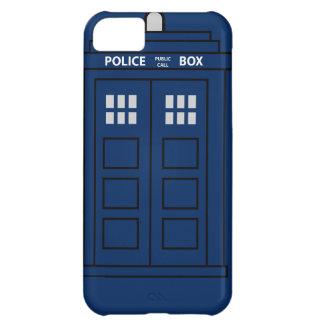 Caja de llamada azul de policía funda para iPhone 5C