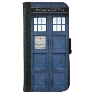 Caja de llamada británica de teléfono de la funda cartera para iPhone 6