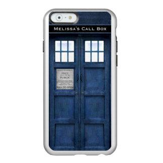 Caja de llamada británica de teléfono de la funda para iPhone 6 plus incipio feather shine