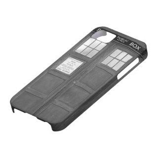 Caja de llamada divertida gris de la cabina de iPhone 5 Case-Mate protectores