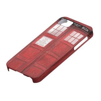 Caja de llamada divertida roja de la cabina de iPhone 5 Case-Mate fundas