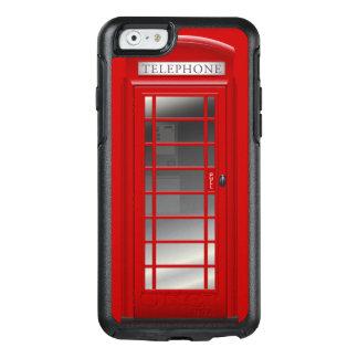 Caja de llamada roja de la cabina de teléfono de funda otterbox para iPhone 6/6s