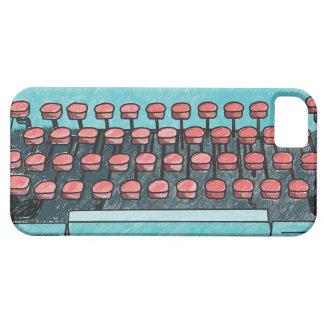 Caja de llaves roja de la máquina de escribir azul iPhone 5 carcasas
