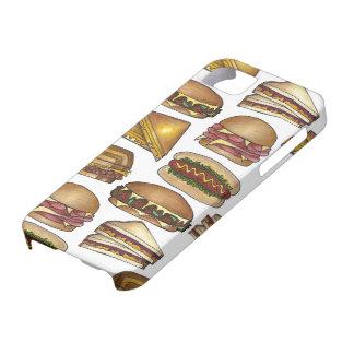 Caja de los bocadillos del bocadillo del queso del iPhone 5 funda