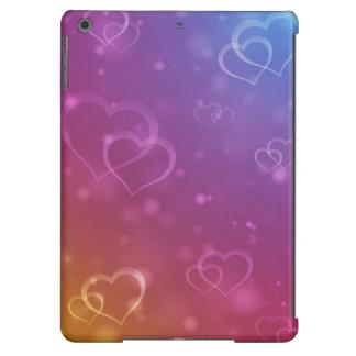 Caja de los corazones de la tarjeta del día de San Funda Para iPad Air