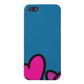 Caja de los corazones iPhone 5 fundas