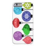 Caja de los ornamentos del navidad funda de iPhone 6 barely there