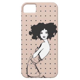 Caja de lujo del vestido del chica iPhone 5 fundas