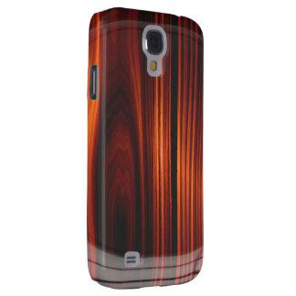 Caja de madera barnizada fresca de la galaxia S4 d Funda Para Galaxy S4