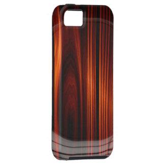 Caja de madera barnizada fresca de la mirada iPhone 5 fundas