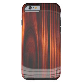 Caja de madera barnizada fresca de la mirada funda de iPhone 6 tough