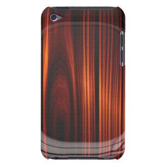Caja de madera barnizada fresca del tacto de iPod Funda Para iPod De Barely There