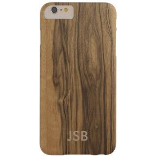 Caja de madera de Blackberry del Zebrawood del Funda De iPhone 6 Plus Barely There