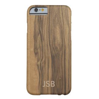 Caja de madera de Blackberry del Zebrawood del Funda De iPhone 6 Barely There