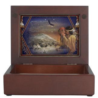 Caja de madera de la baratija de la bendición cajas de recuerdos