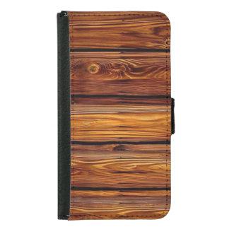 Caja de madera de la cartera de la galaxia S5 de