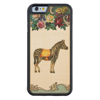 Caja de madera de la cebra del parachoque de oro funda de iPhone 6 bumper arce