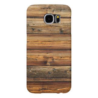 Caja de madera de la galaxia S6 de Samsung de la Fundas Samsung Galaxy S6
