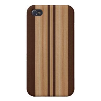 Caja de madera de la mota del iPhone 4/4S de la ta iPhone 4 Fundas