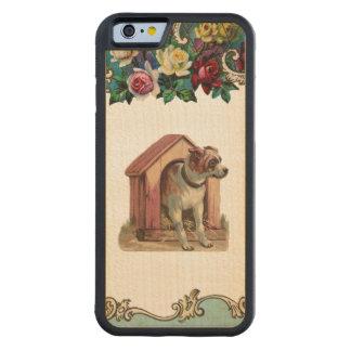 Caja de madera de perro de la casa del parachoque funda de iPhone 6 bumper arce