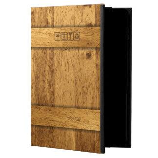 Caja de madera del aire   del iPad de la caja del