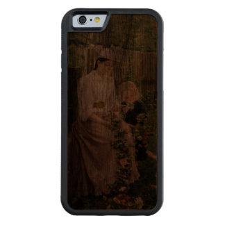 Caja de madera del parachoque del teléfono 6 de la funda de iPhone 6 bumper nogal