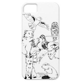 Caja de madera del teléfono de la insignia iPhone 5 carcasa