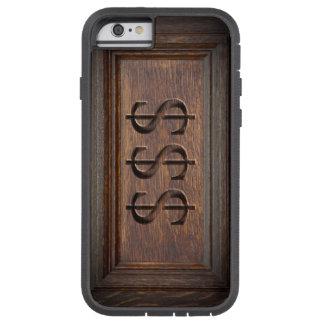 Caja de madera del teléfono de las muestras de funda de iPhone 6 tough xtreme