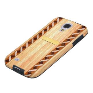 Caja de madera del teléfono del embutido - madera funda para galaxy s4