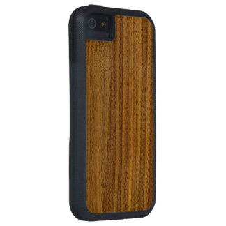 Caja de madera del teléfono del grano de la nuez iPhone 5 carcasa