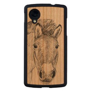Caja de madera del teléfono del nexo 5 de Google Funda De Nexus 5 Carved® Slim De Cerezo