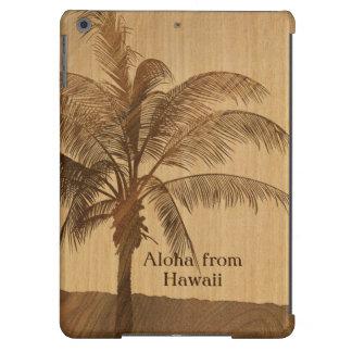 Caja de madera hawaiana del aire del iPad de Koa