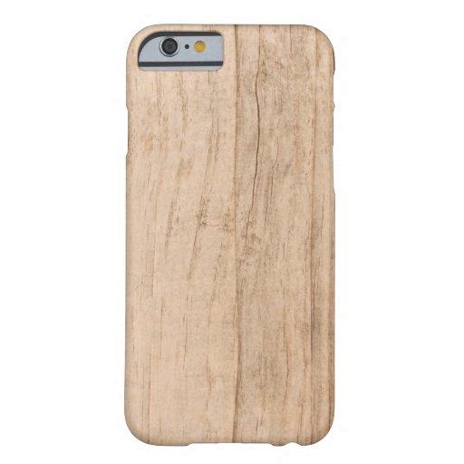 Caja de madera ligera del iPhone 6 de la cubierta Funda Para iPhone 6 Barely There