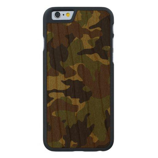 Caja de madera militar verde áspera del iPhone 6 Funda De iPhone 6 Carved® De Cerezo