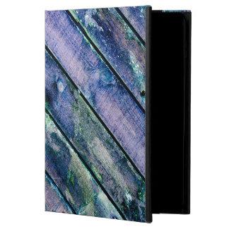 Caja de madera púrpura del aire del iPad de la